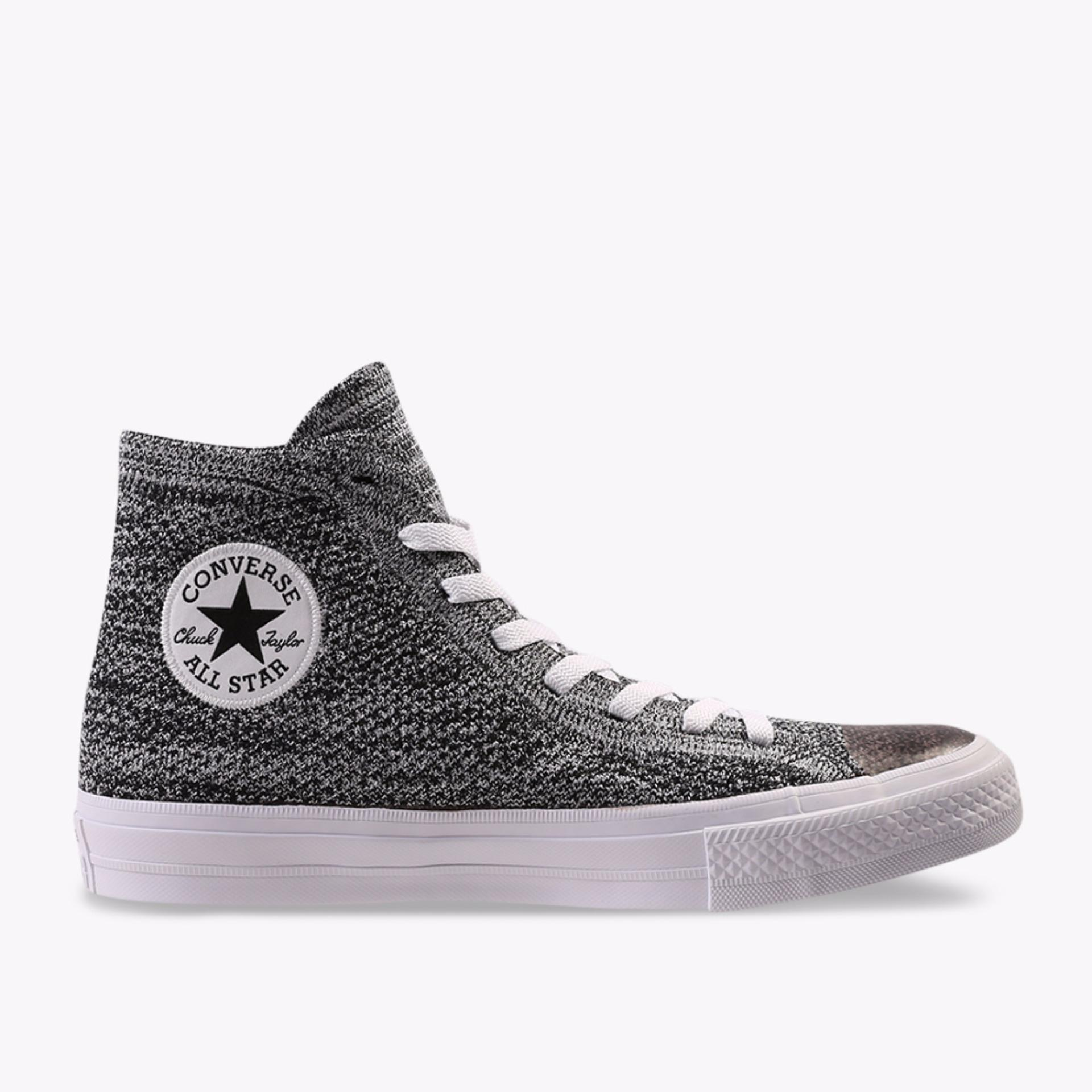 Converse Chuck Taylor All Star X Nike Flyknit Men's Sneakers Shoes - Hitam Wolf