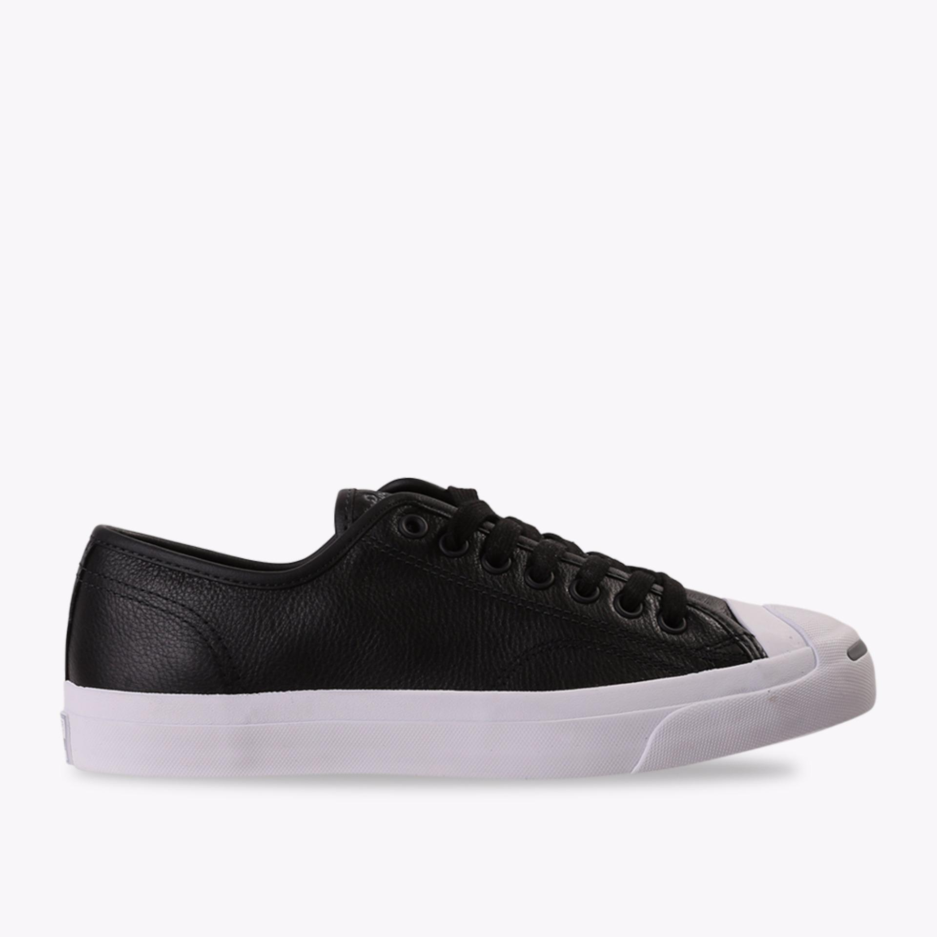 Converse Jack Purcell Jack Leather Ox Men's Sneakers Shoes - Hitam