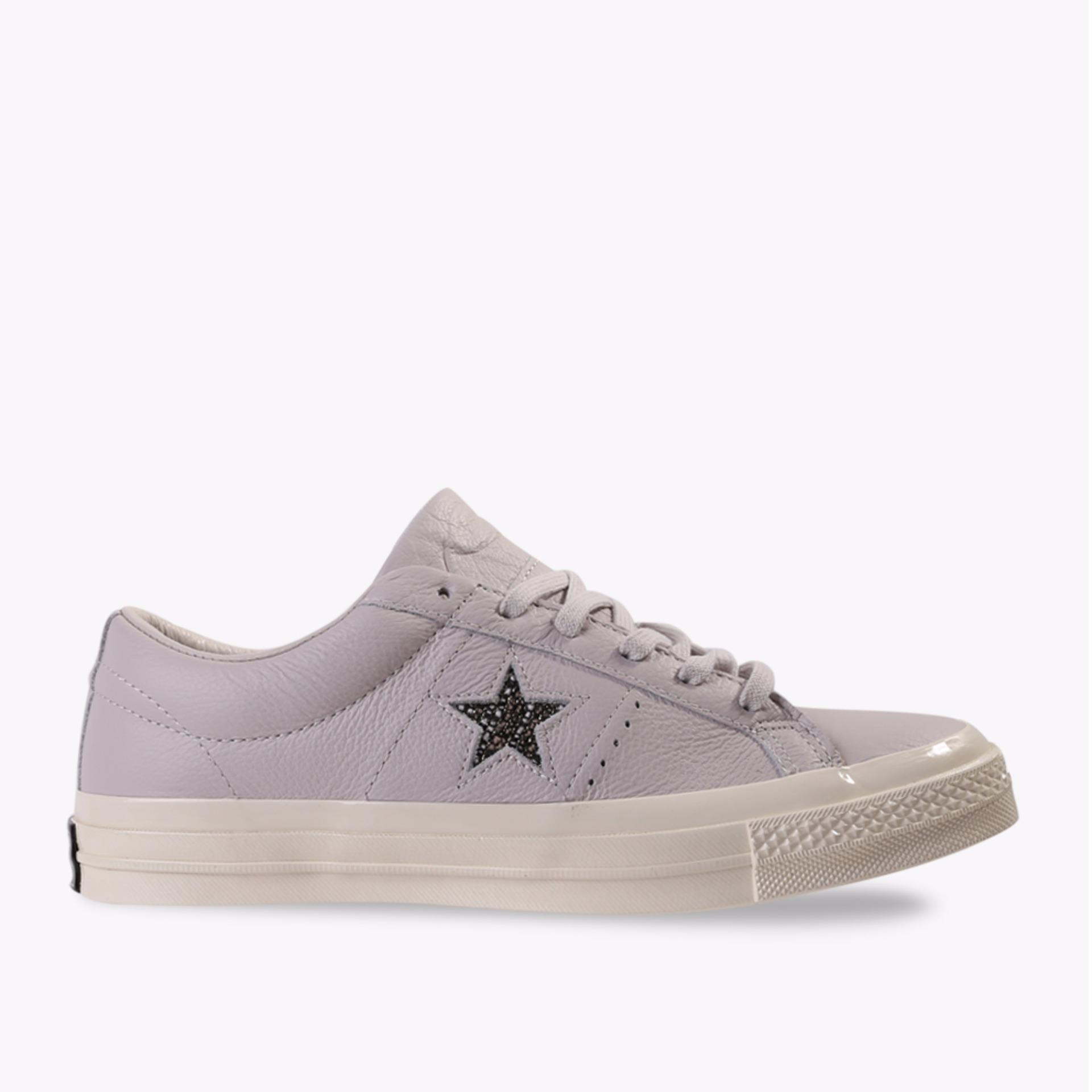 Converse One Star Leather Ox Women's Sneakers Shoes - Unisex Chuck Size - Ungu