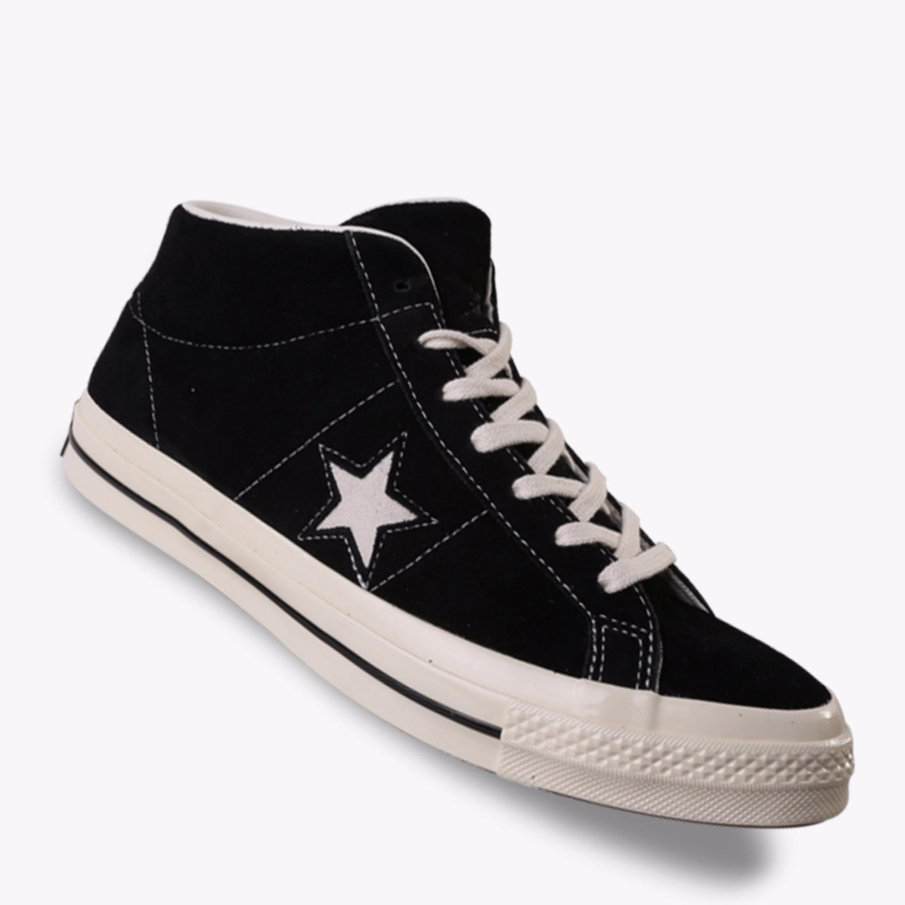Converse One Star Mid Suede Men S Sneakers Shoes Hitam Converse Diskon 40