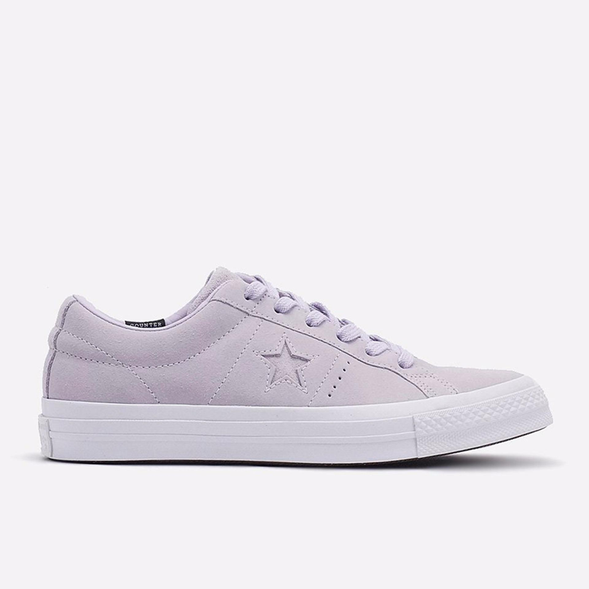 Promo Converse One Star Ox Plush Suede Women S Sneakers Shoes Barely Fuchsia Akhir Tahun