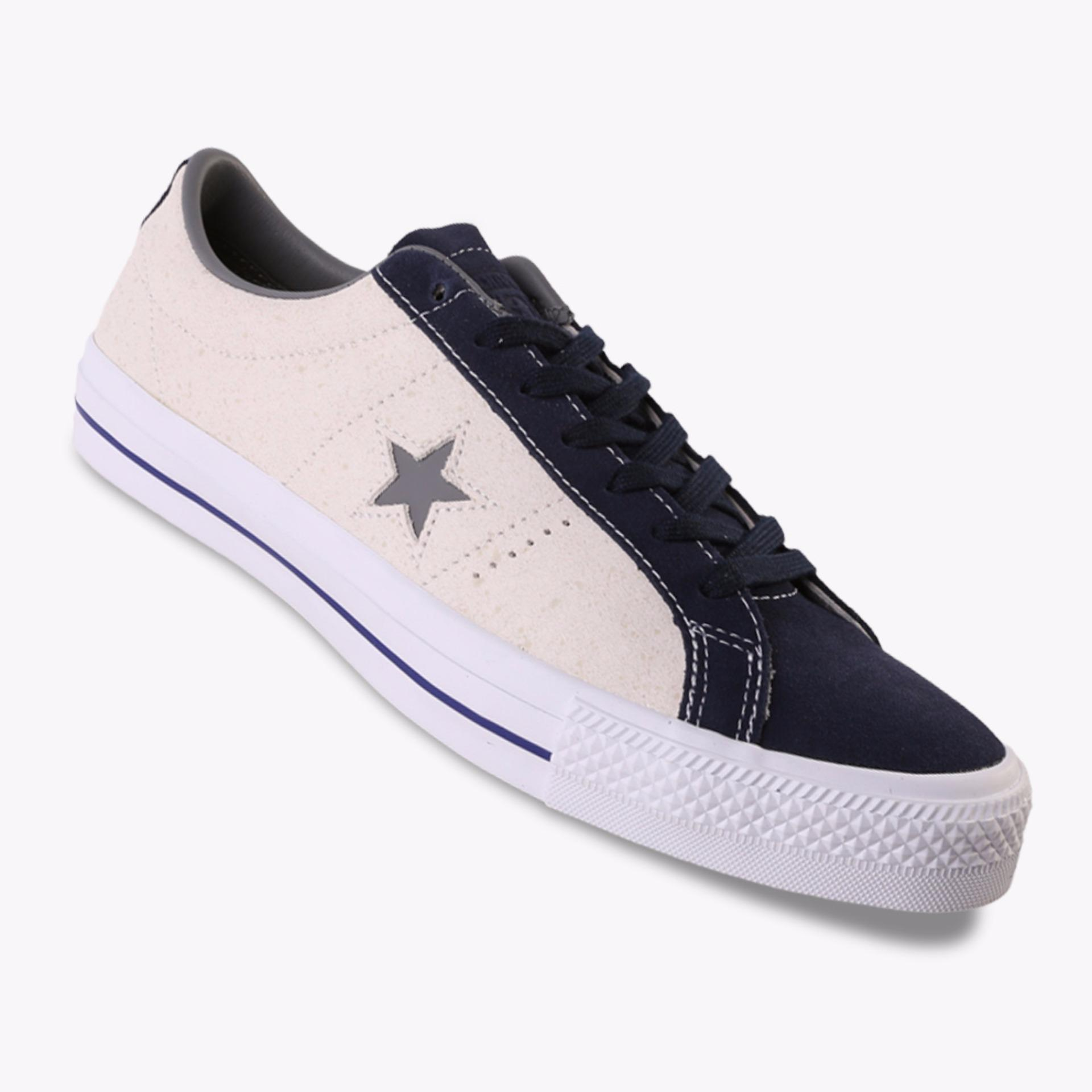 Harga Converse One Star Pro Ox Men S Sneakers Abu Abu Yang Murah
