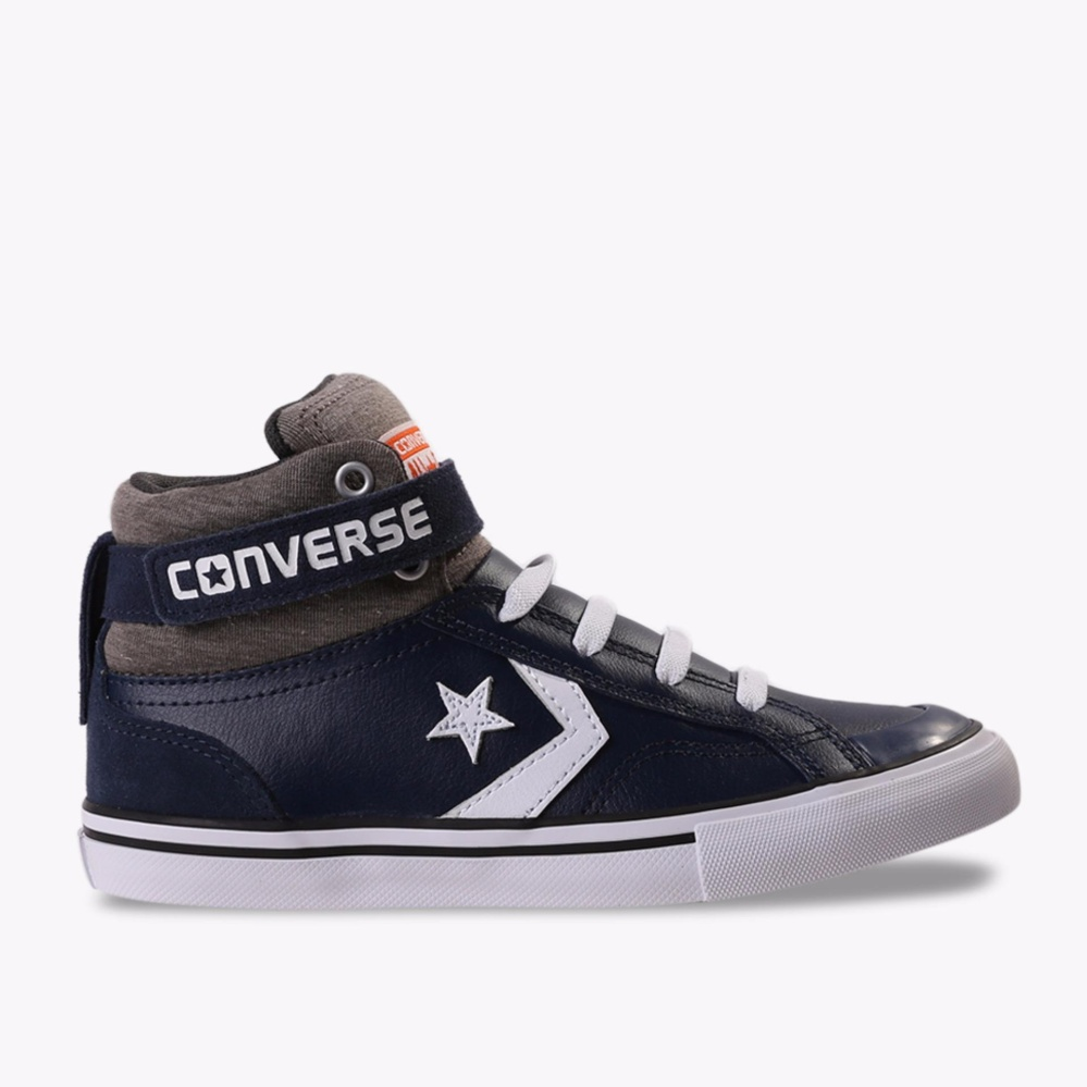 Converse Pro Blaze Strap Hi Sepatu Sneakers Anak - Biru Tua