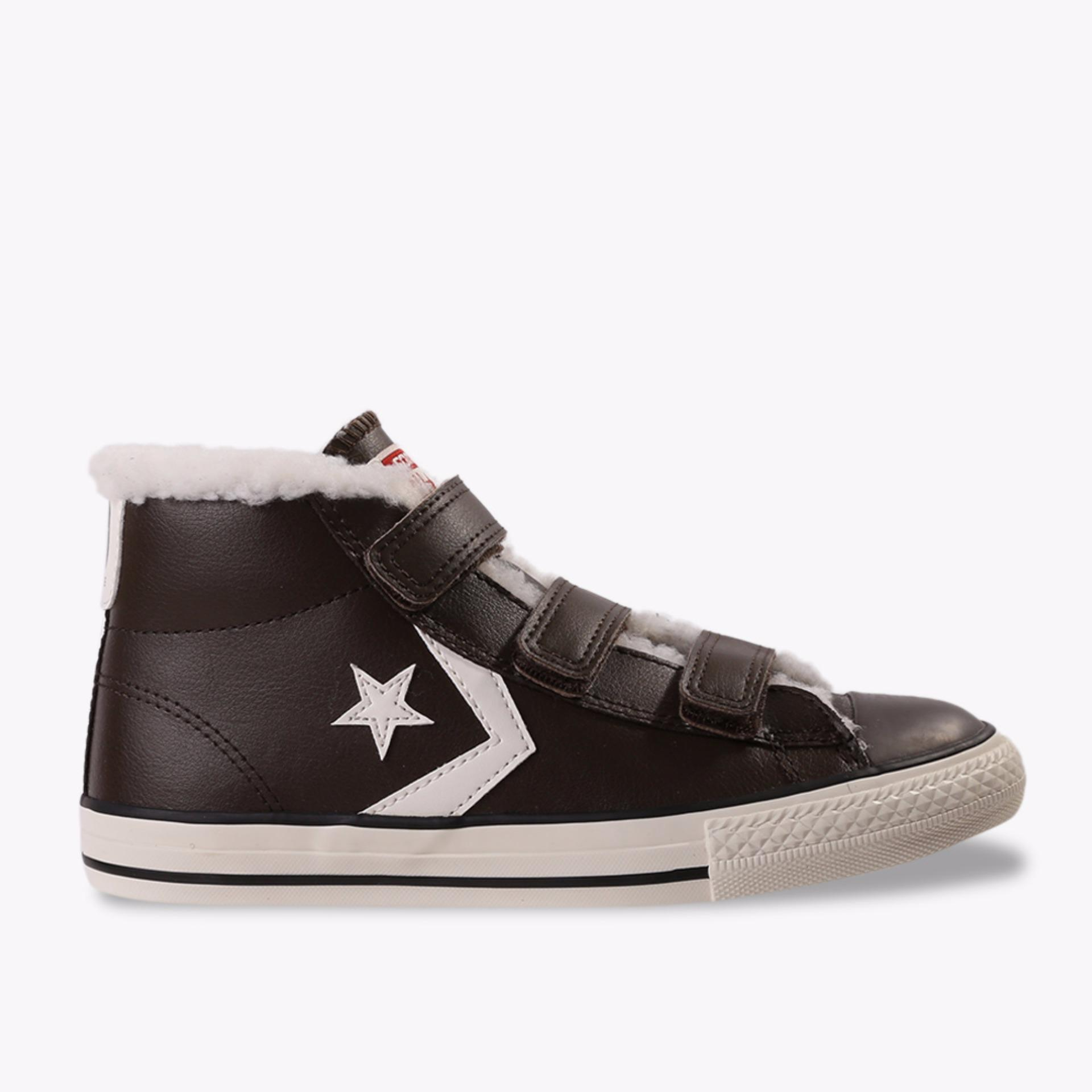 Converse Star Player EV 3V Mid Kids Sneakers Shoes - Cokelat