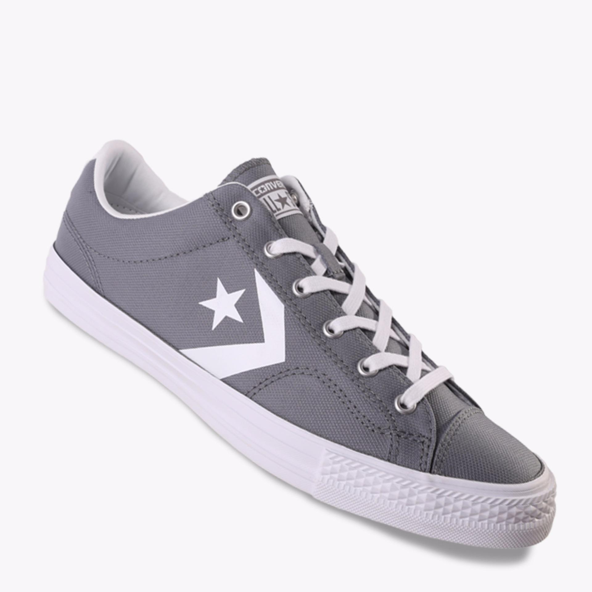 Beli Converse Star Player Ox Men S Sneakers Abu Abu Online Indonesia