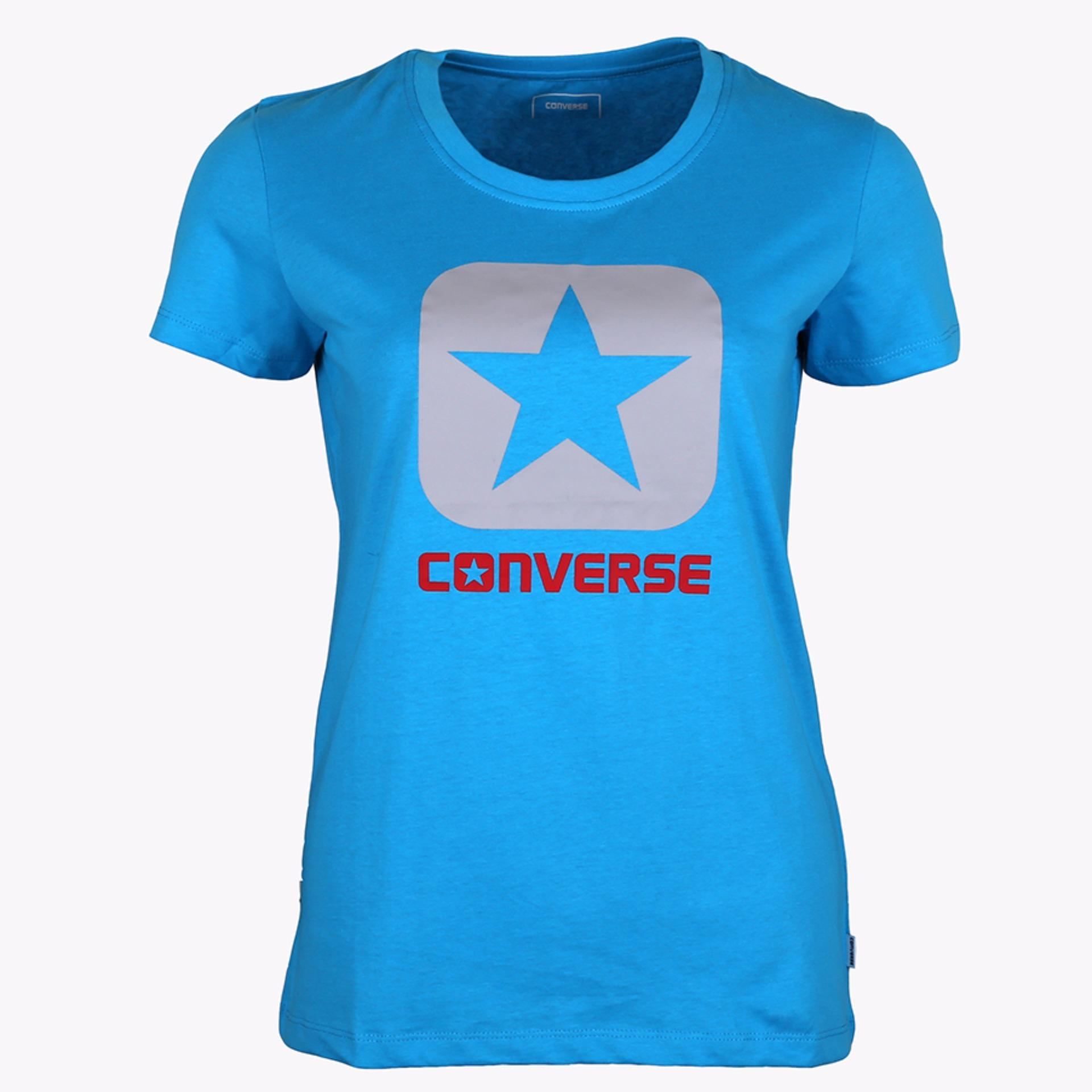 Dimana Beli Converse Women S T Shirt Biru Converse