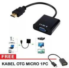 SELALU ADA - Konverter Hdmi To Vga Free Kabel Otg Micro Usb
