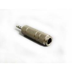 Converter Jack FEMALE Mic 6.5mm To MALE Audio 3.5 mm STEREO BESI Headphone Earphones Adapter