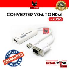 Converter VGA+Audio To HDMI With USB Power Adapter Kabel Cable