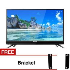 Coocaa 24 inch HD LED TV - Hitam (Model 24W3) Free Bracket