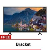 Spesifikasi Coocaa 32 Inch Hd Digital Led Tv Hitam Model 32E2A22G With Free Bracket Yg Baik