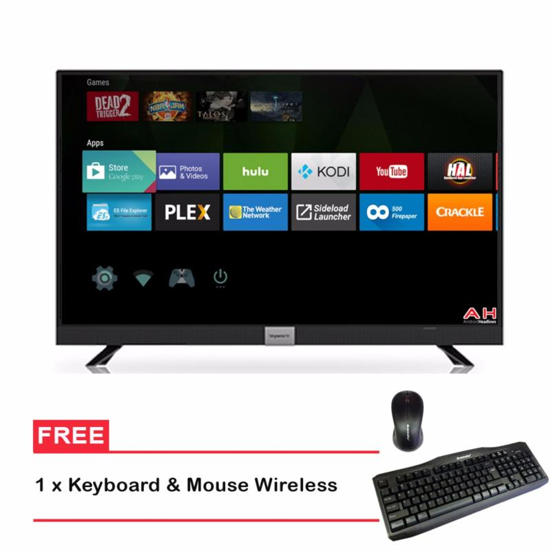 Coocaa 32 LED Smart TV 32S3A12G- Hitam + Free Keyboard & mouse Wireless