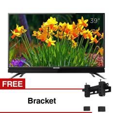 Coocaa 39 inch HD LED TV - Hitam (Model 39W3) Free Bracket