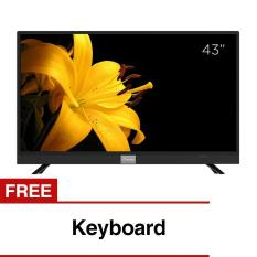 Beli Coocaa 43 Inch Full Hd Smart Digital Led Tv Hitam Model 43S3A12G With Free Keyboard Jawa Barat