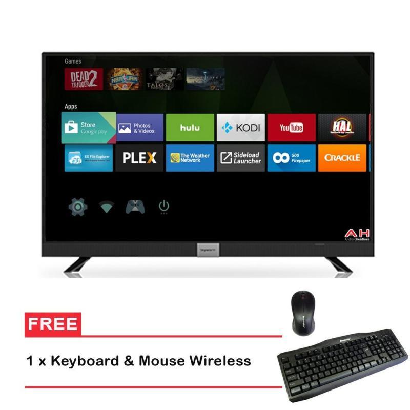 Coocaa 50 LED Smart Digital TV 50S3A12G- Hitam (Khusus JADETABEK)