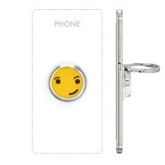 Cool Confident Kuning Cute Indah Online Chat Emoji Ilustrasi Pola Logam Rotasi Cincin Berdiri Pemegang Bracket untuk Smartphone Sel Ponsel Mendukung Aksesoris-Intl