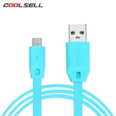 COOLSELL 1M Micro USB 2A Fast charging Noodle Data Cable For Samsung Xiaomi Huawei Vivo Oppo