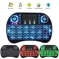 Beli Coowalk 2 4G Mini Portabel Keyboard Nirkabel With Touchpad Mouse Multi Media Genggam Android Keyboard For Windows Android Google Smart Tv Linux Mac Os Biru Cahaya Internasional Dengan Kartu Kredit