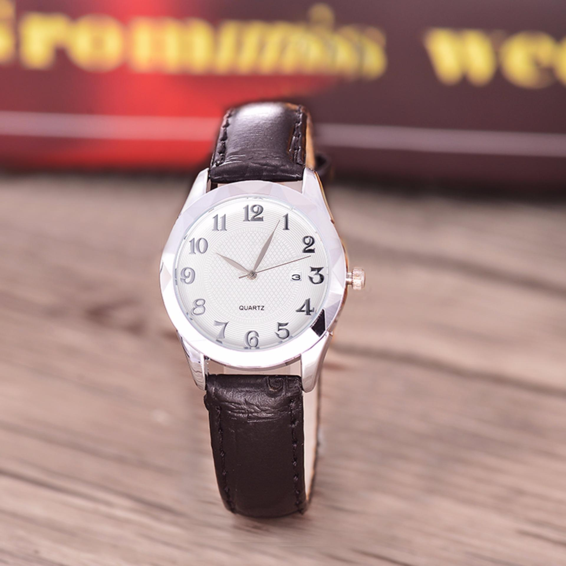 Penawaran Istimewa Costie Land Jam Tangan Wanita Body Silver White Dial Costie Land Cl 5501A L Sw Tgl Silver Black Leather Terbaru