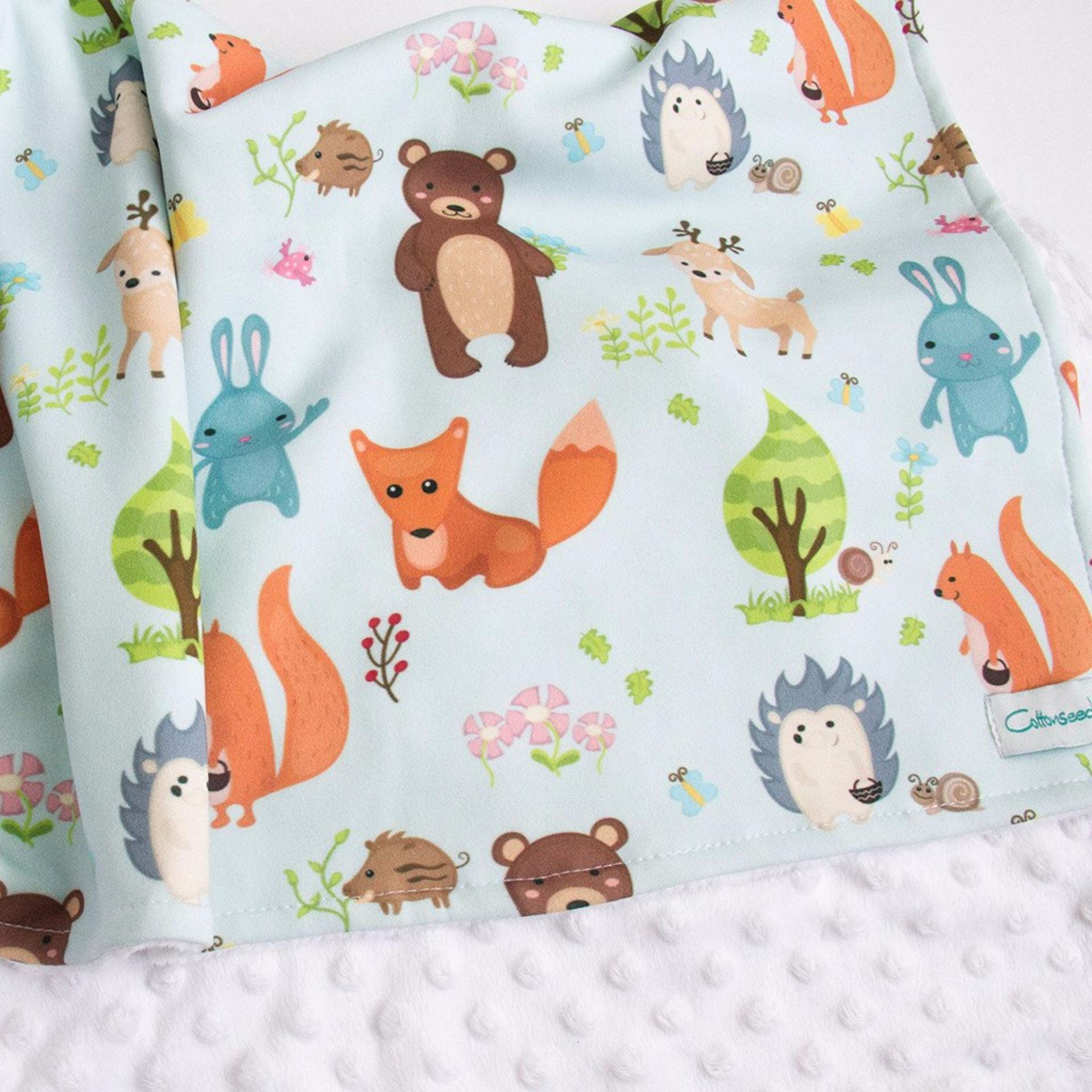 Promo Cottonseeds Blanket Animal Forest Cottonseeds Terbaru