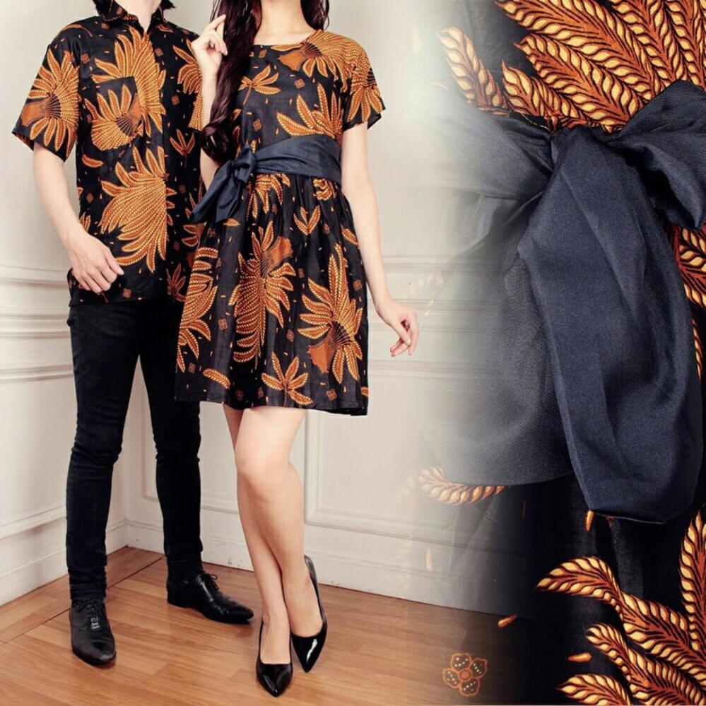 Couple batik dress wanita mini dress dan atasan kemeja pria shirt Chikita a07827570c