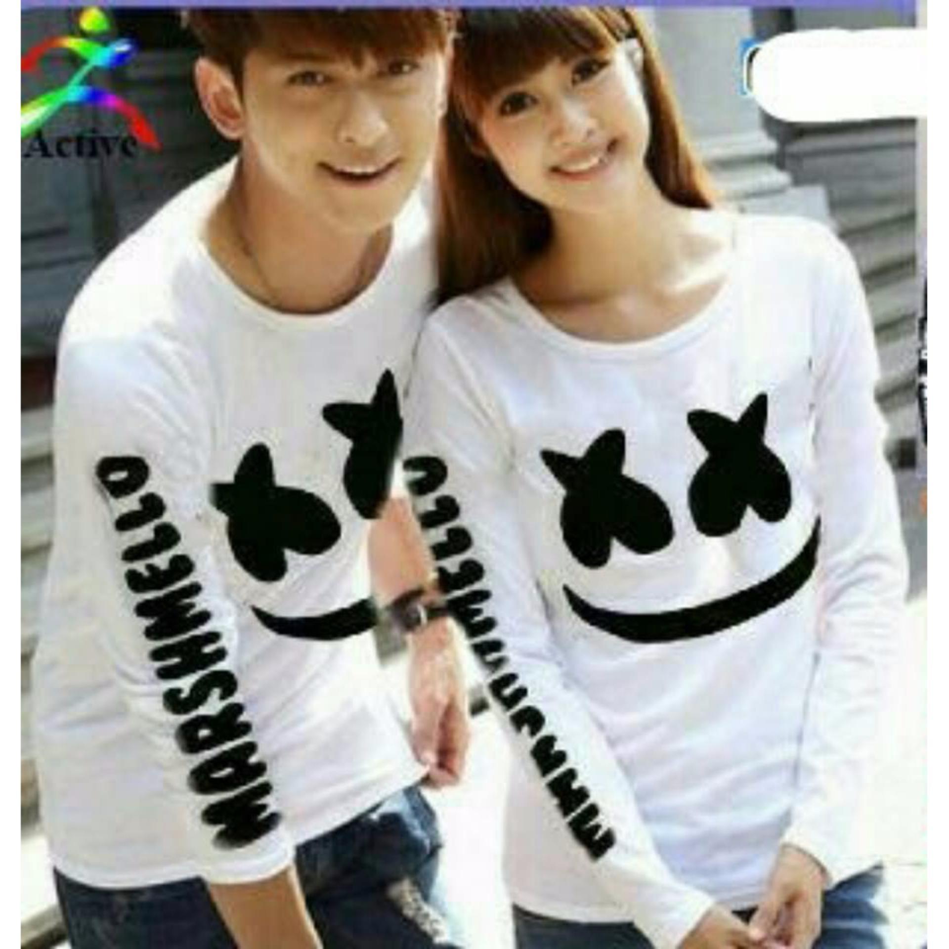 legiONshop-baju pasangan Kaos pasangan atasan couple kaos couple XX MELLO PD black. Source