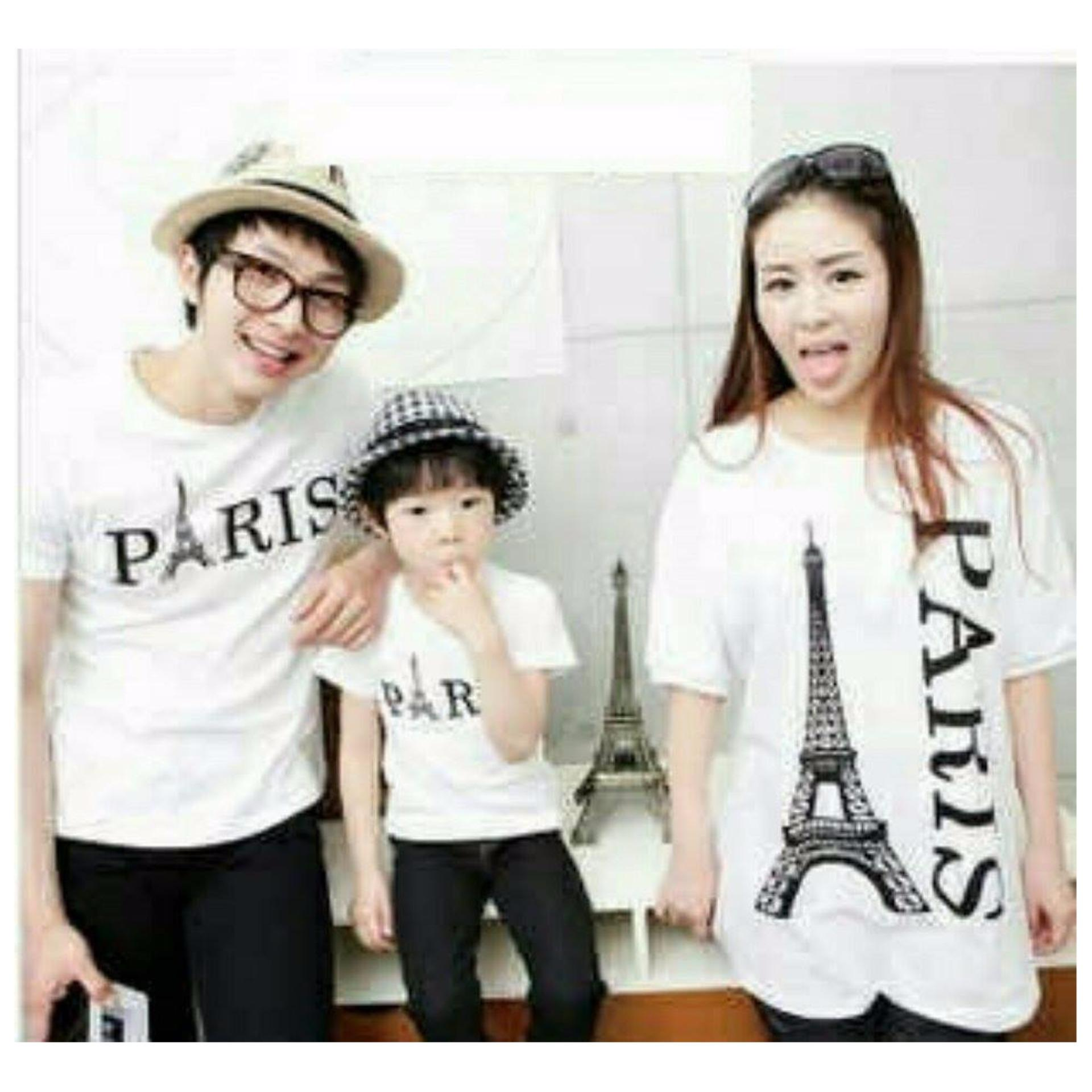 Beli Couplelover Kaos Couple Family Kalong Paris Putih 1Anak Couplelover