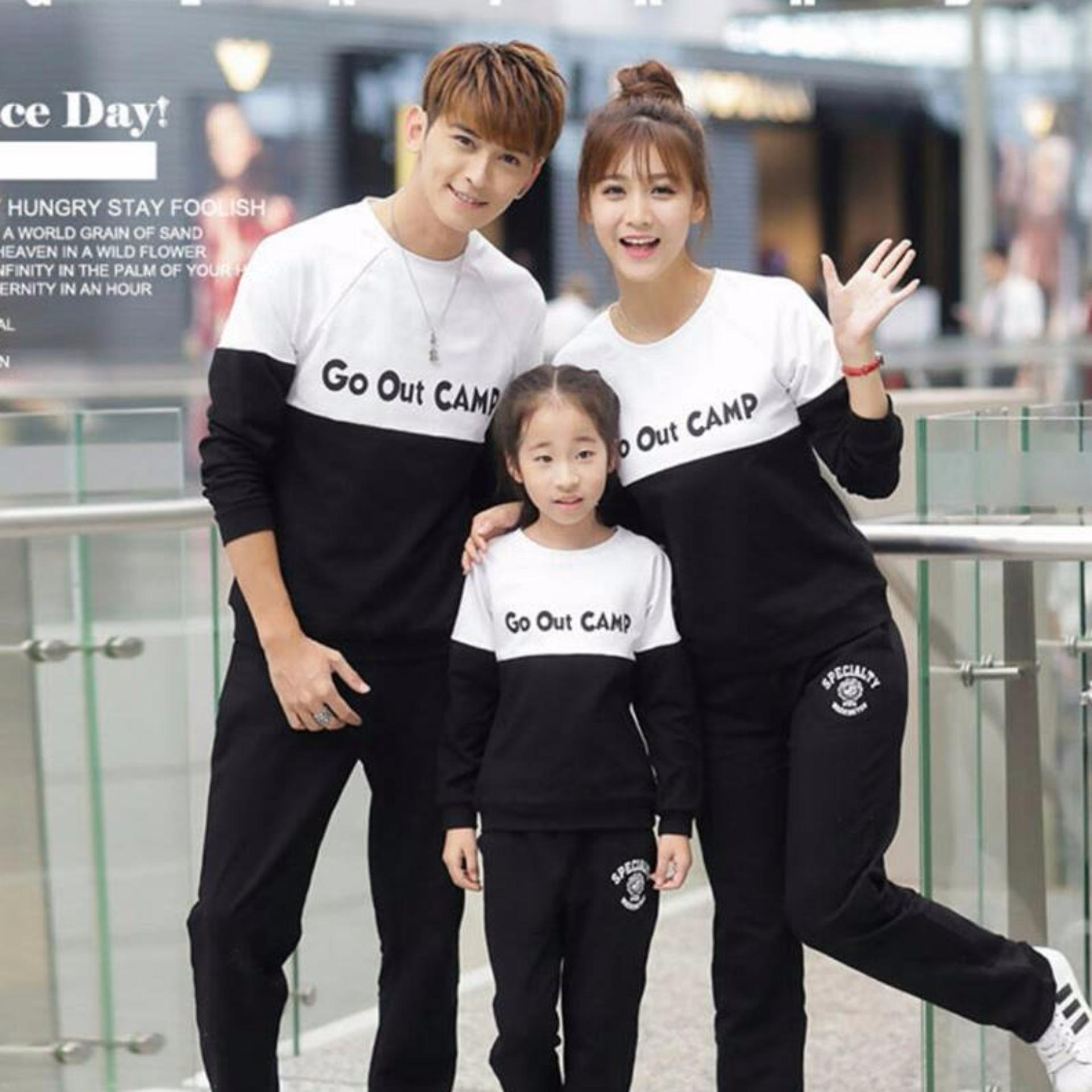 Spesifikasi Couplelover Sweater Family Couple Go Out Camp Hitam Putih Lp Ayah Ibu Anak Family Couple Sweater Family Baju Kembaran Sweater Keluarga Couplelover