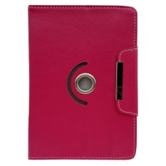 Cover Case untuk Alcatel Onetouch Evo 7 - Dapat Diputar 360 Derajat - Merah