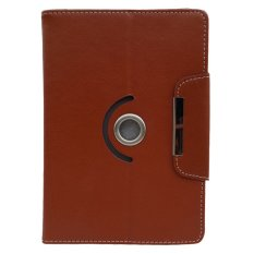 Cover Case untuk Huawei Mediapad T1 10 - Dapat Diputar 360 Derajat - Coklat