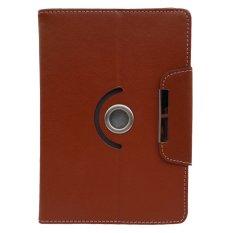 Cover Case untuk Samsung Galaxy Tab 4 8.0 Lte - Dapat Diputar 360 Derajat - Coklat
