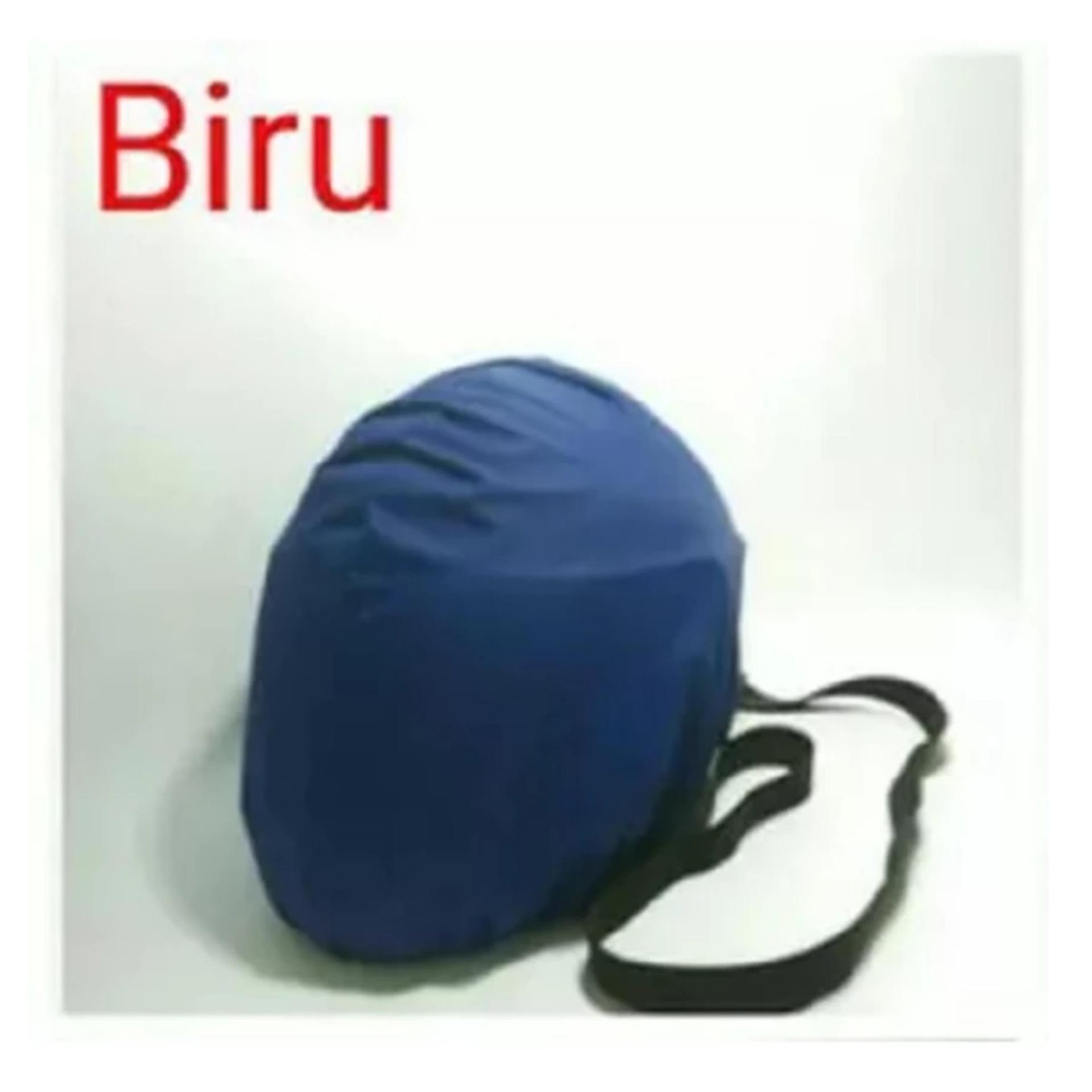 COVER HELM ANTI AIR - Raincoat - Jas Hujan Helm Tas Helm Sarung Helm - Biru