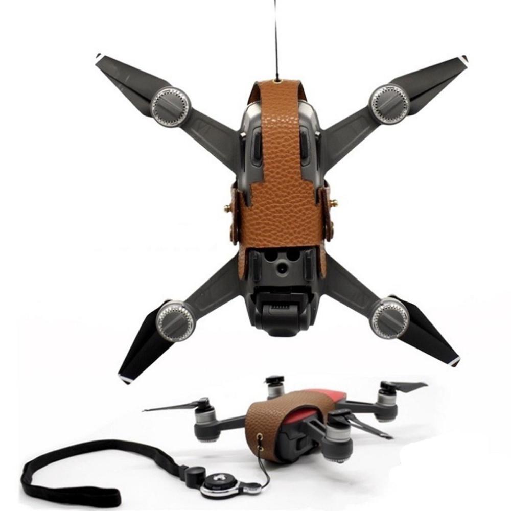 Toko Cowhide Penyimpanan Pelindung Kulit Case Cover Pelindung Guard Untuk Dji Spark Drone Intl Online Terpercaya