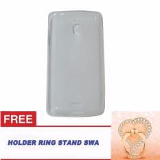 CQ Oppo Joy R1001 Ultrathin Oppo R1001 Softshell Oppo Joy / Softcase Oppo Joy R1001 + Free Ring Stand Motif Swa Random - Putih Transparan