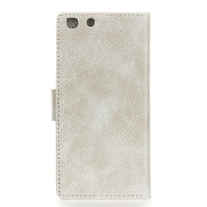 Crazy Horse Pola Dompet Leather Case Flip Cover untuk Alcatel OneTouch X1 7053D-Putih-Intl