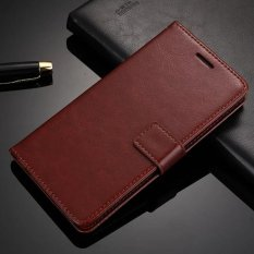 Crazy Horse Kulit Dompet Retro Flip Leather Case dengan Slot Kartu untuk Coolpad Catatan 3 (Brown) -Intl