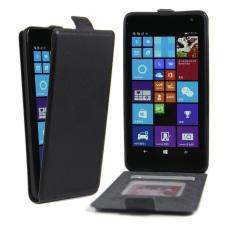 Crazy Horse Vertikal Flip Leather Case untuk Microsoft Lumia 535/Dual SIM-Hitam