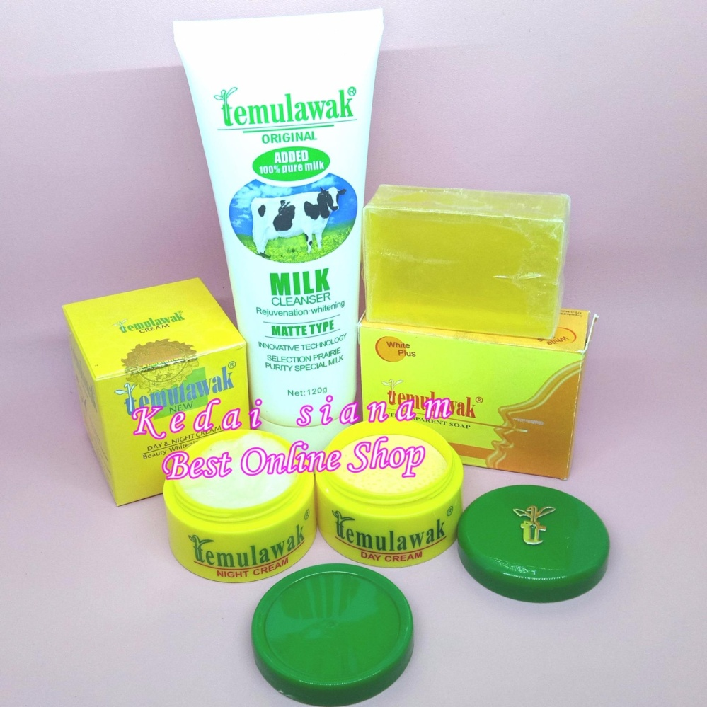 Jual Cream Temulawak Day And Night Plus Sabun Tranparan Soap White Plus Temulawak Milk Cleanser Whitening Cream Asli