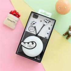 Kreatif Inovatif Cat Claw In-ear earphone untuk Gadis Lucu dengan Indah Headset Kotak Penyimpanan M133-Intl