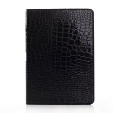 Buaya Pu Kulit Case Cover Stand untuk Samsung Galaxy Note 10.1 Inch (Edisi 2014) Sm-p600 & Samsung Galaxy Tablet Pro Sm-t520 Hitam-Intl