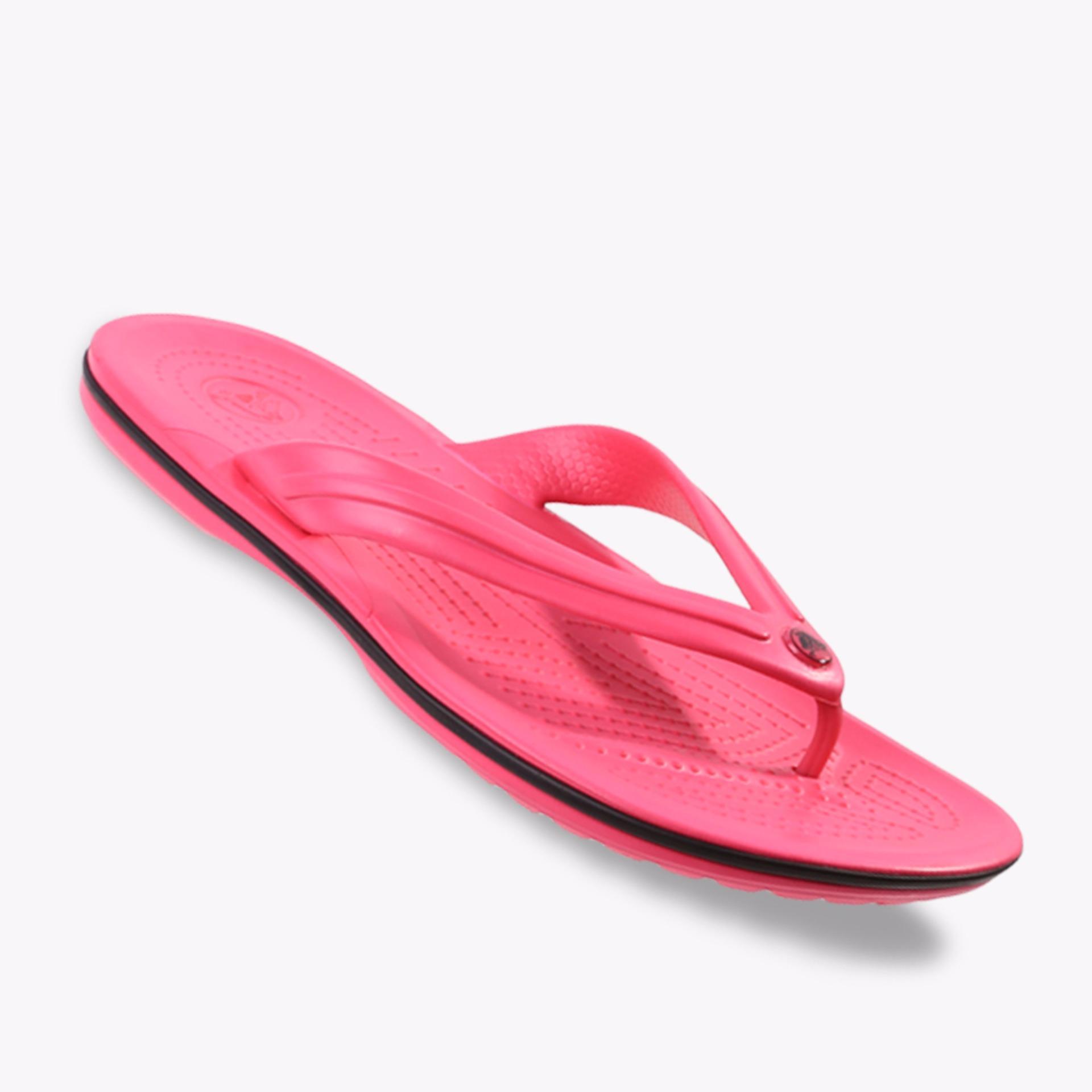 Review Toko Crocs Crocband Flip Unisex Sandals Pink Online