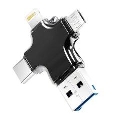 Harga Cross 4 In 1 Card Reader 8 Pin Apple Lightning Port Tipe C Otg Micro Usb Sd Tf Card Reader Momery Adaptor Untuk Android Smartphone Iphone 7 6 S Ipad Trait