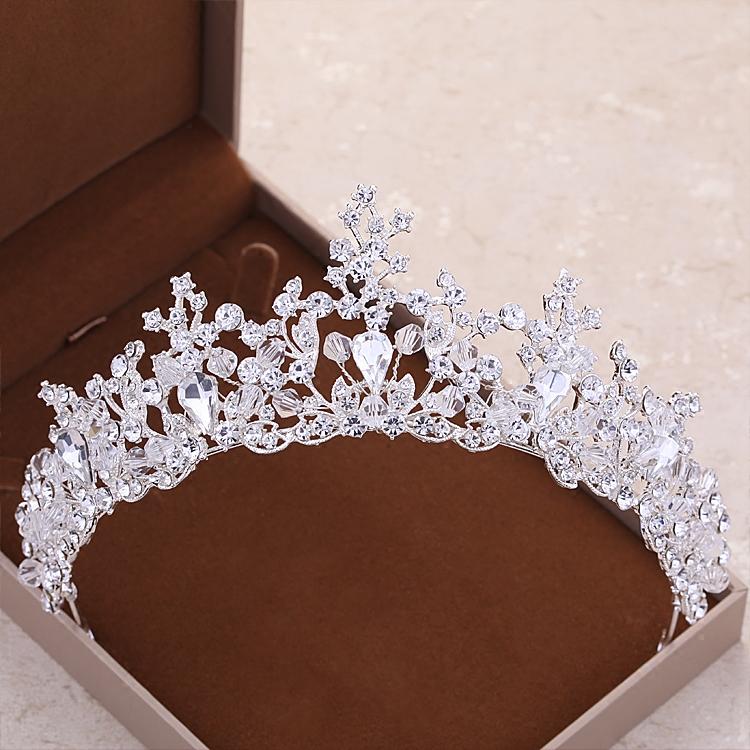 Crown Model Korea Mempelai Wanita Menikah Gaun Pengantin Gaun Hiasan Rambut