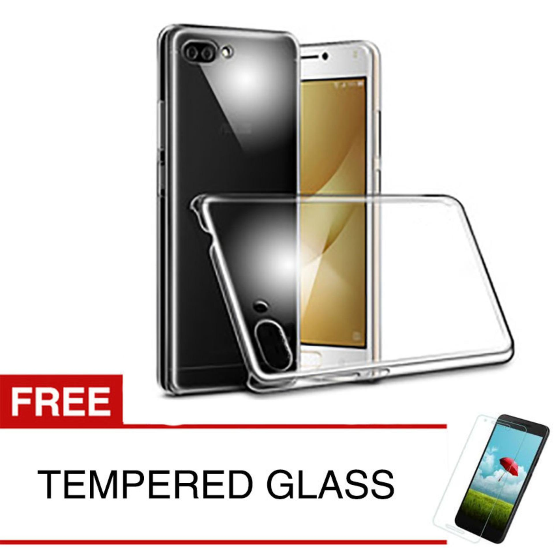 Harga Crystal Case For Asus Zenfone 4 Max Pro Zc554Kl Clear Hardcase Gratis Tempered Glass Paling Murah