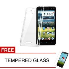 Crystal Case for Lenovo A536 - Clear Hardcase +  Gratis Tempered Glass