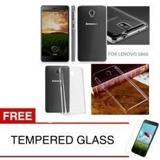 Crystal Case for Lenovo S860 - Clear Hardcase +  Gratis Tempered Glass
