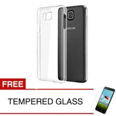 Crystal Case for Samsung Galaxy Alpha / G850 - Clear Hardcase - Gratis Tempered Glass