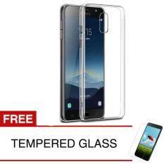 Crystal Case for Samsung Galaxy J7+ / Plus 2017 / C710 - Clear Hardcase - Gratis Tempered Glass