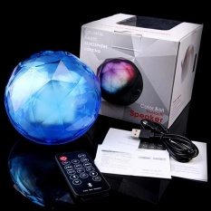 Crystal Magic Ball Dipimpin Lampu Nirkabel Bluetooth PortableSpeakerBlue-Intl