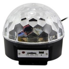 Crystal Magic Ball Sound MP3 Player Activated LED Disco Lamp - Multi-Color
